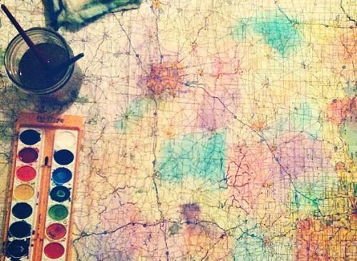 Mapa para viajar feliz